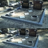 Ограда из бетона с гранитной крошкой  на 2 места (с фундаментом)