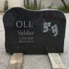 Надгробный камень 35x50x12 cm + гравировка + картинка